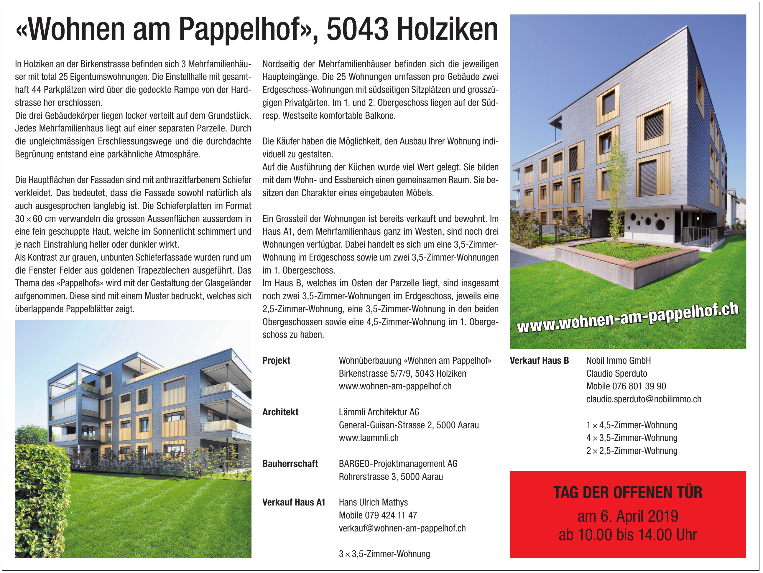 Wohnüberbauung «Wohnen am Pappelhof»