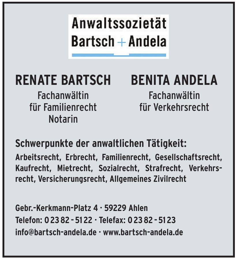 Anwaltssozietät Bartsch + Andela