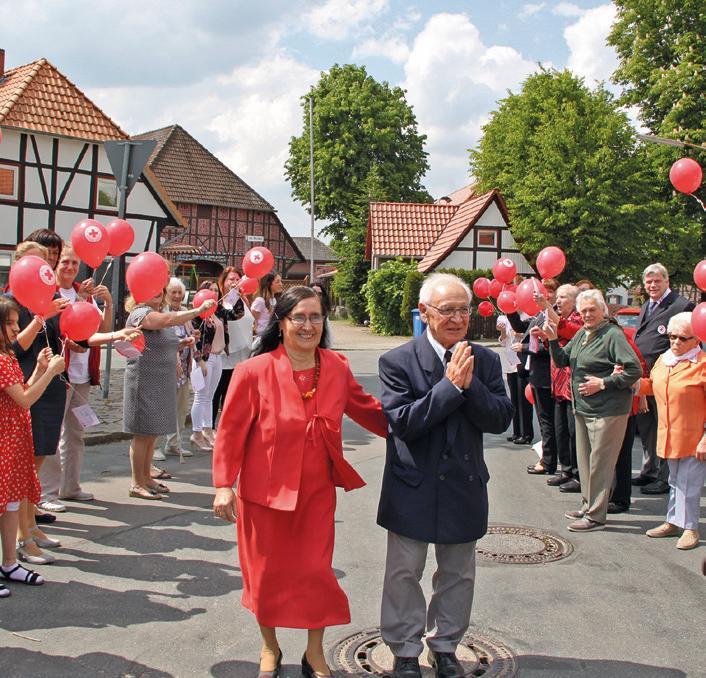 Ehefrau Angela ist seit 59 Jahren an der Seite von Aurelio Massei und unterstützt ihn bei seinen Ehrenämtern. Foto: AZ/Archiv