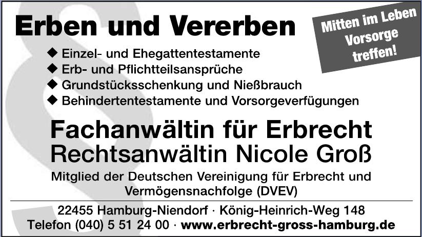 Fachanwältin für Erbrecht Rechtsanwältin Nicole Groß