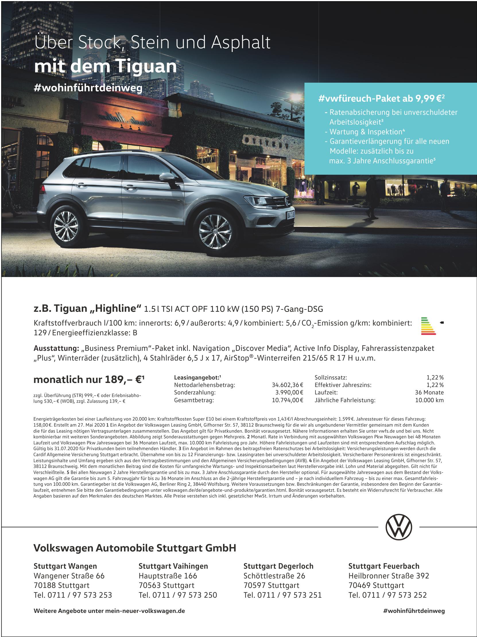 Volkswagen Automobile Stuttgart GmbH - Stuttgart Wangen