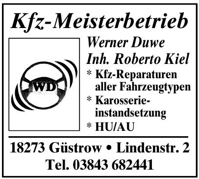 Kfz-Meisterbetrieb Werner Duwe