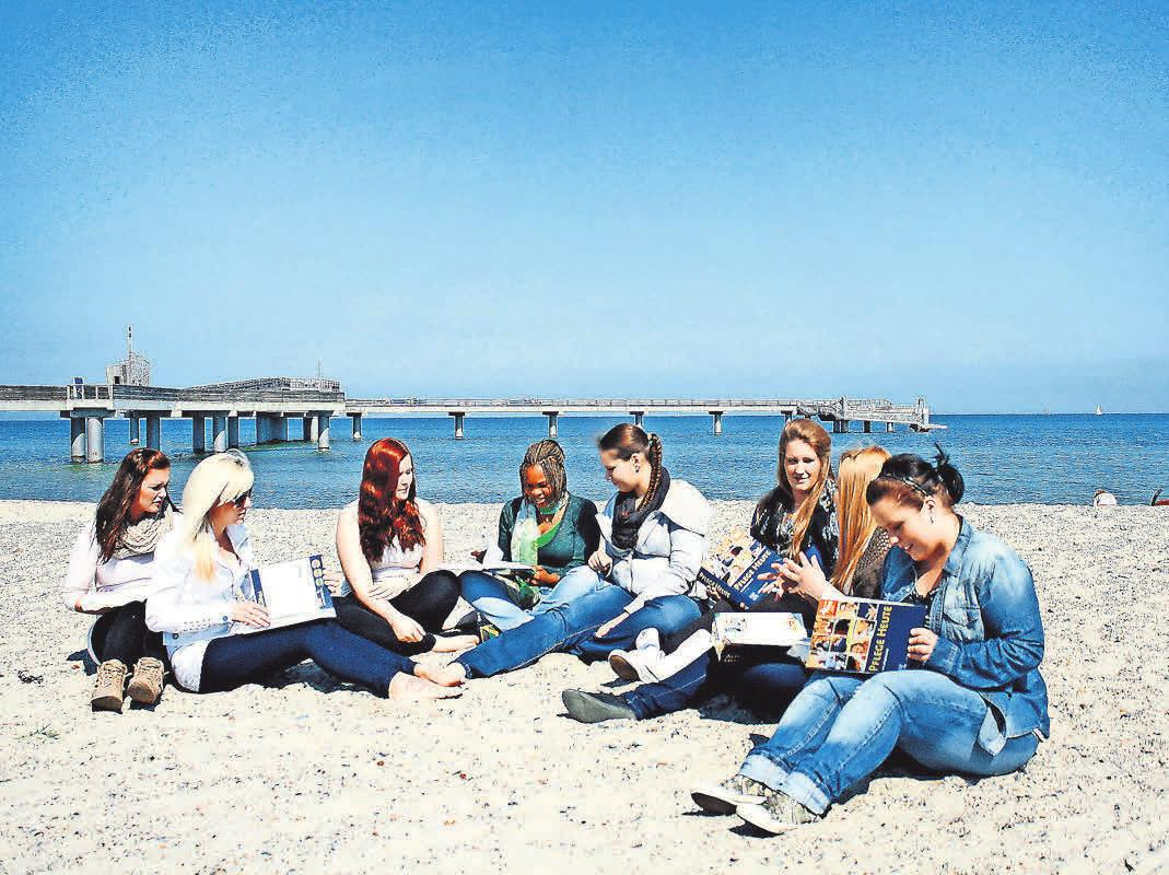 Lernen am Strand und in der Natur: Die Auszubildenden in Holstein genießen die besonderen Ameos-Standorte. Foto: Ameos