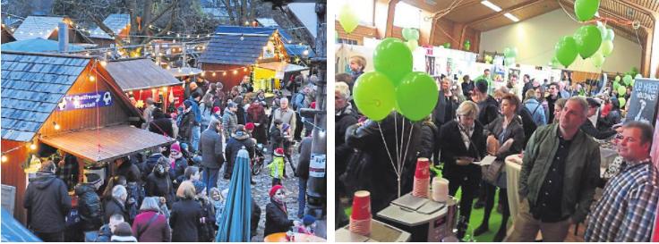 Mit Erfolg organisiert und plant der Eberstädter Gewerbeverein regelmäßig beliebte Events, seien es der beleibte Weihnachtsmarkt, Feste oder Messen. otos: Claus Völker/Gewerbeverien Eberstadt