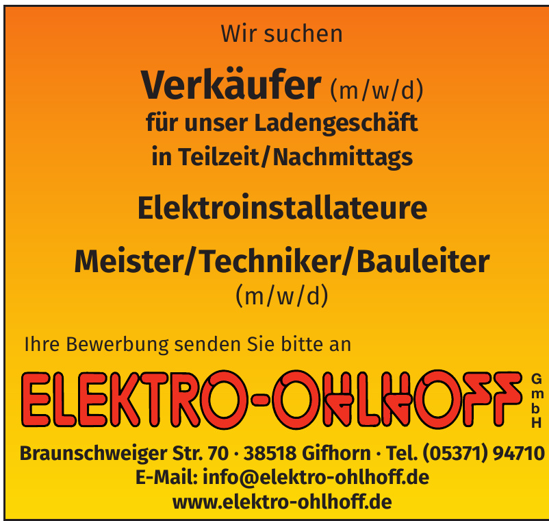 Elektro-Ohlhoff GmbH