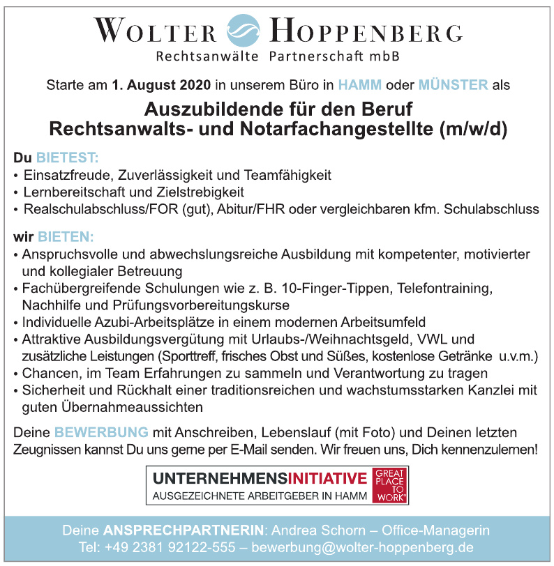 Wolter Hoppenberg Rechtsanwälte Partnerschaft mbB
