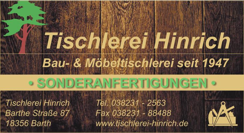 Tischlerei Hinrich
