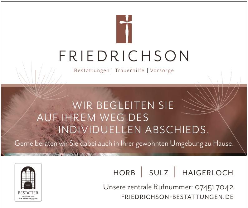 Friedrichson Bestattungen