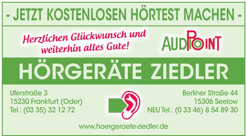 AudioPoint Hörgeräte Ziedler