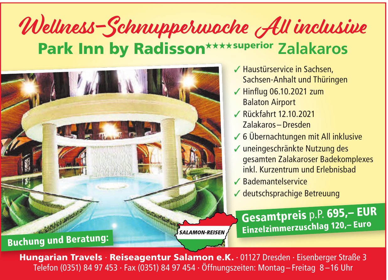 Hungarian Travels - Reiseagentur Salamon e.K