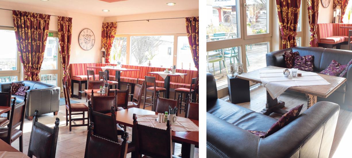 Mit neuen Vorhängen und Tischdeko hat Stephan Rauscher seinen Stil ins Vaude Café gebracht.