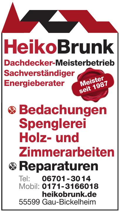 Heiko Brunk Dachdecker-Meisterbetrieb