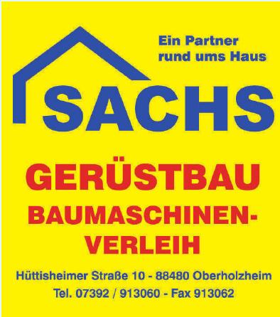 Sachs Gerüstbau, Baumaschinenverleih