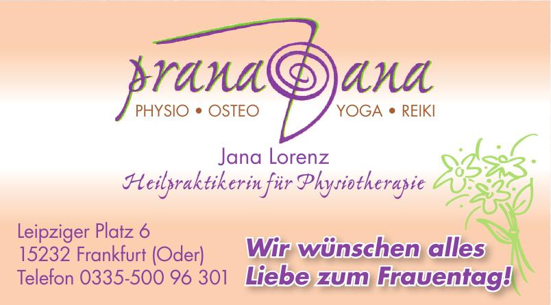 Prana Jana Heilpraktikerin für Physiotherapie