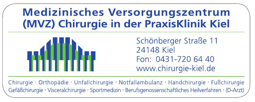 Medizinisches Versorgungszentrum (MVZ) Chirurgie in der PraxisKlinik Kiel