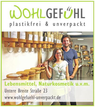 Wohlgefühl – plastikfrei & unverpackt Alicia Dannecker & Björn Gerlach GbR