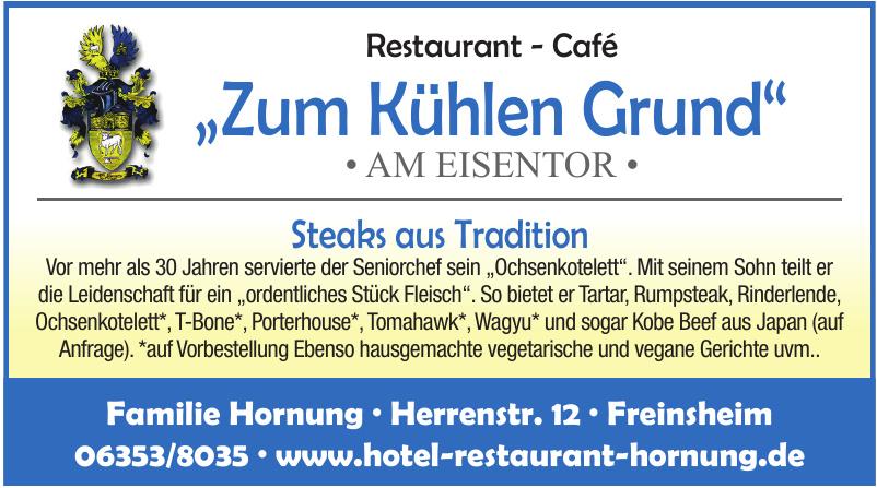 """Restaurant - Café """"Zum Kühlen Grund"""""""