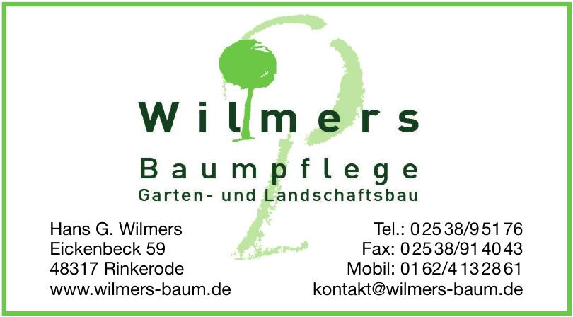 Wilmers Baumpflege, Garten- und Landschaftsbau