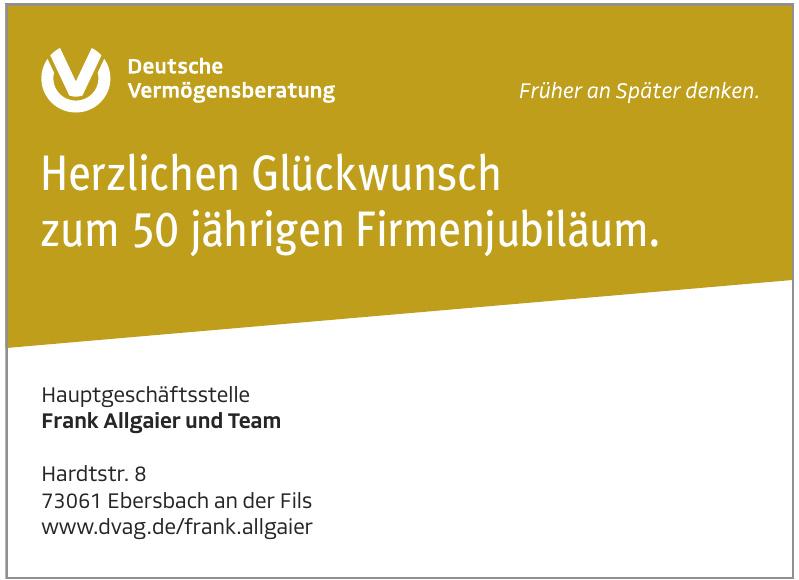 Hauptgeschäftsstelle Frank Allgaier und Team