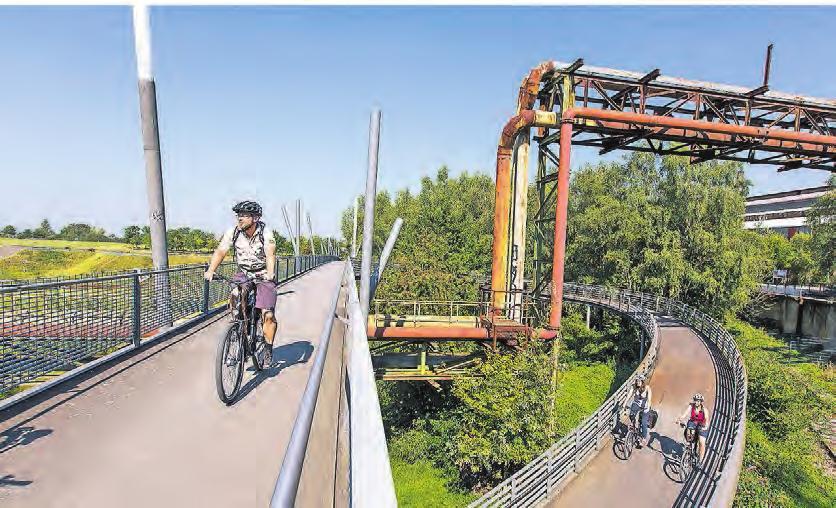 Im radrevier.ruhr gehört der Bochumer Westpark zu den bekanntesten Ausflugszielen. Foto: Jochen Tack