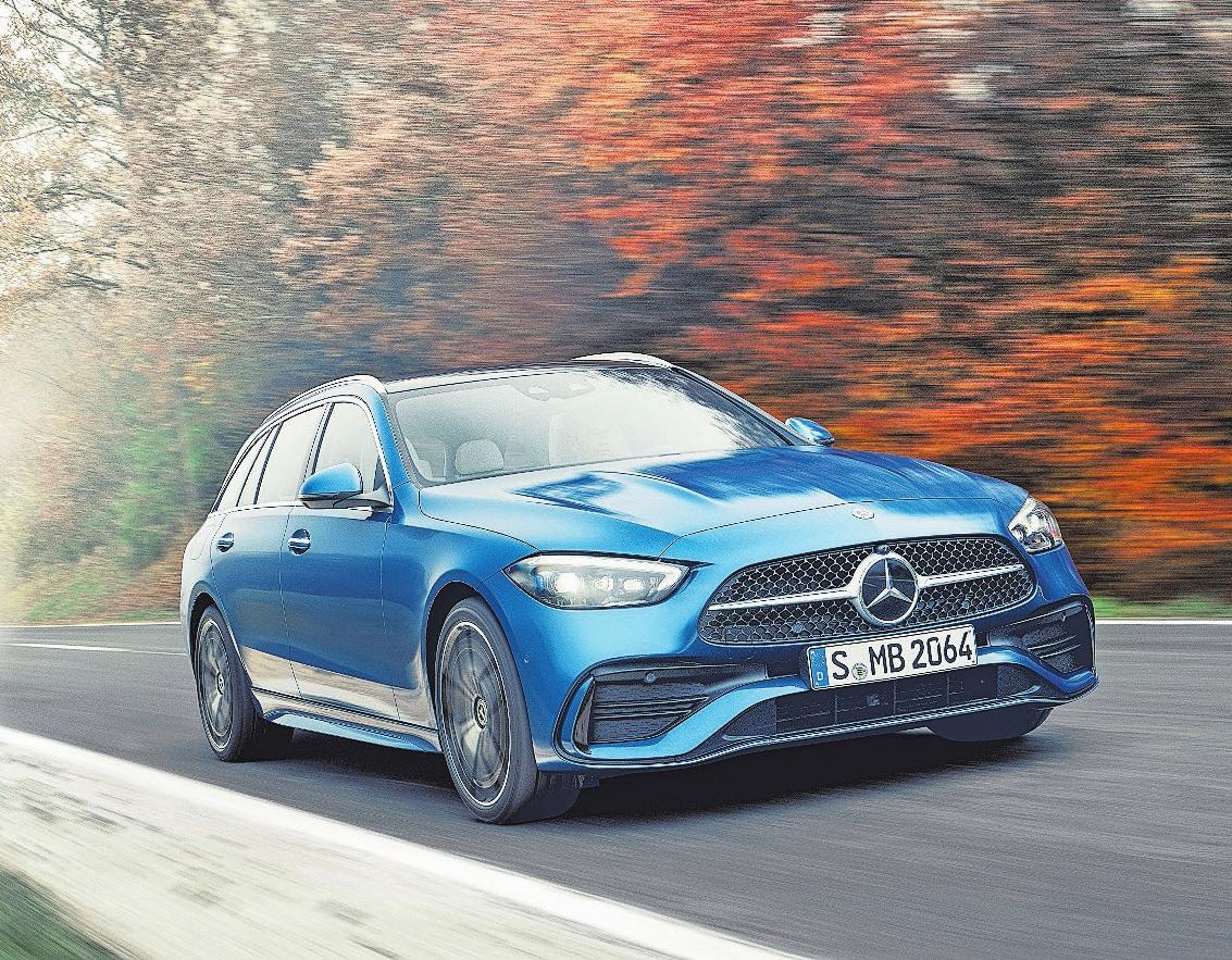 Limousine und Kombi der neuen Mercedes C-Klasse sind ab Mai erhältlich – auch als Plug-in-Hybrid.