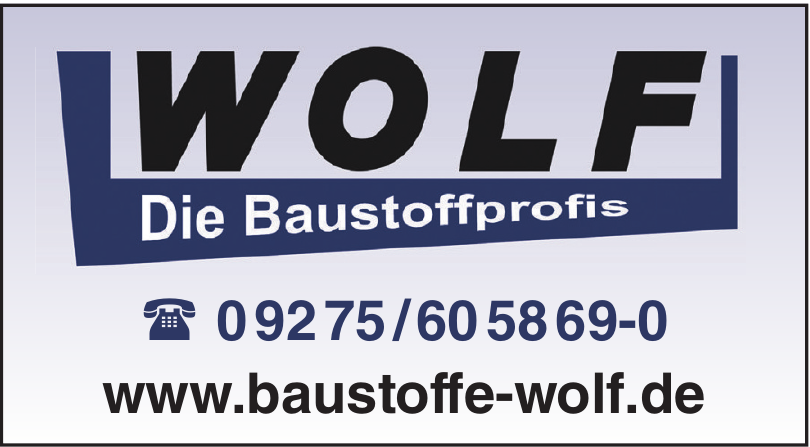 Wolf Die Baustoffprofis