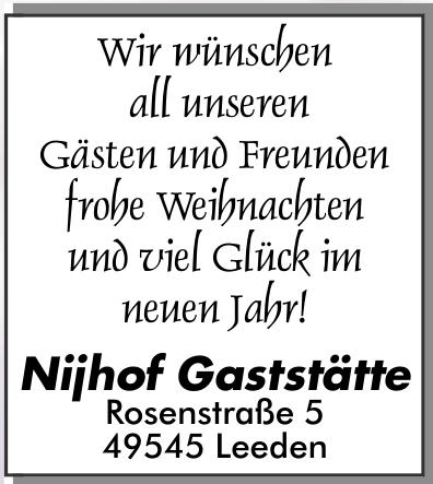 Nijhof Gaststätte
