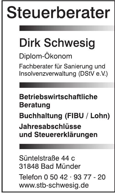 Steuerberater Dirk Schwesig