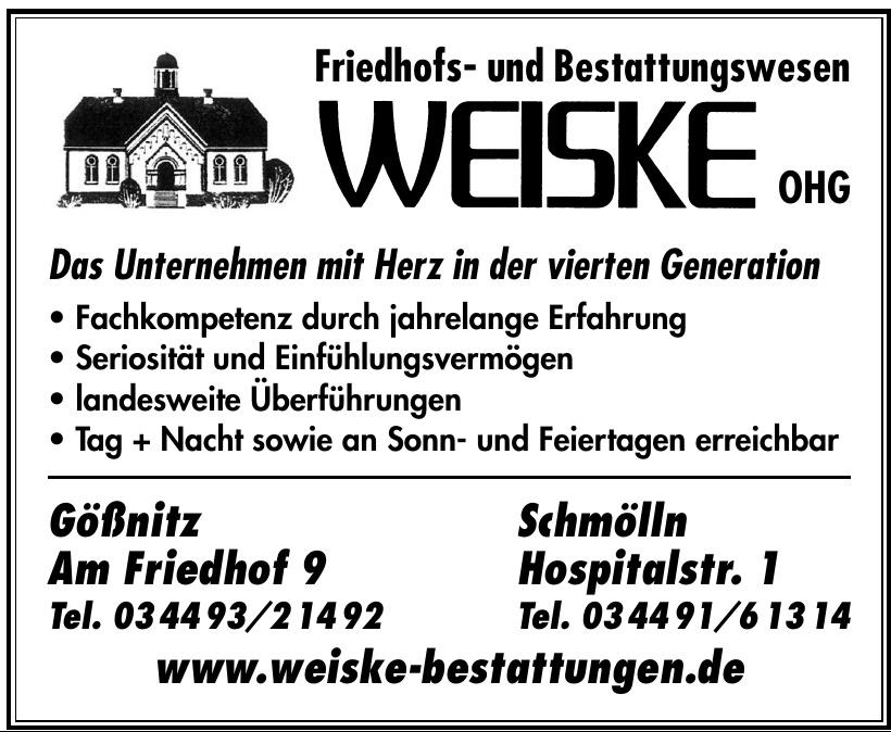 Friedhofs- und Bestattungswesen Weiske OHG