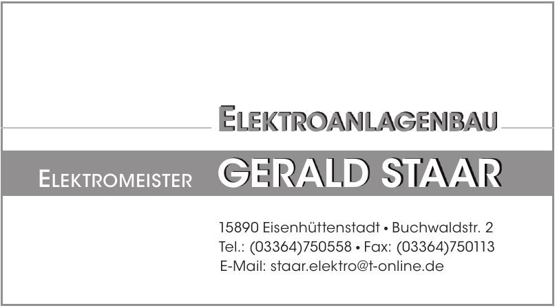 Elektromeister Gerald Staar