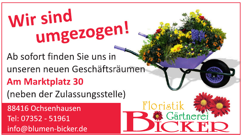 Floristik Gärtnerei Bicker