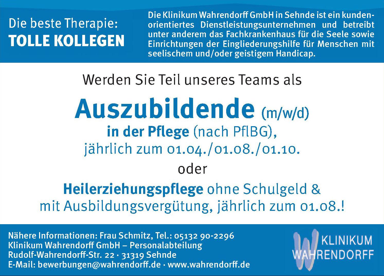Klinikum Wahrendorff GmbH – Personalabteilung