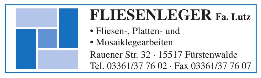 Fliesenleger Fa. Lutz
