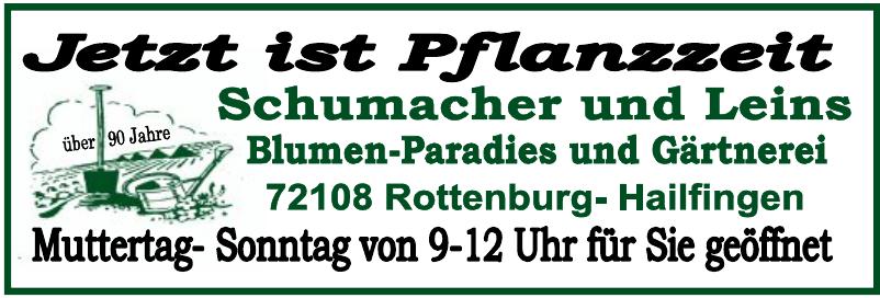 Schumacher und Leins Blumen-Paradies und Gärtnerei