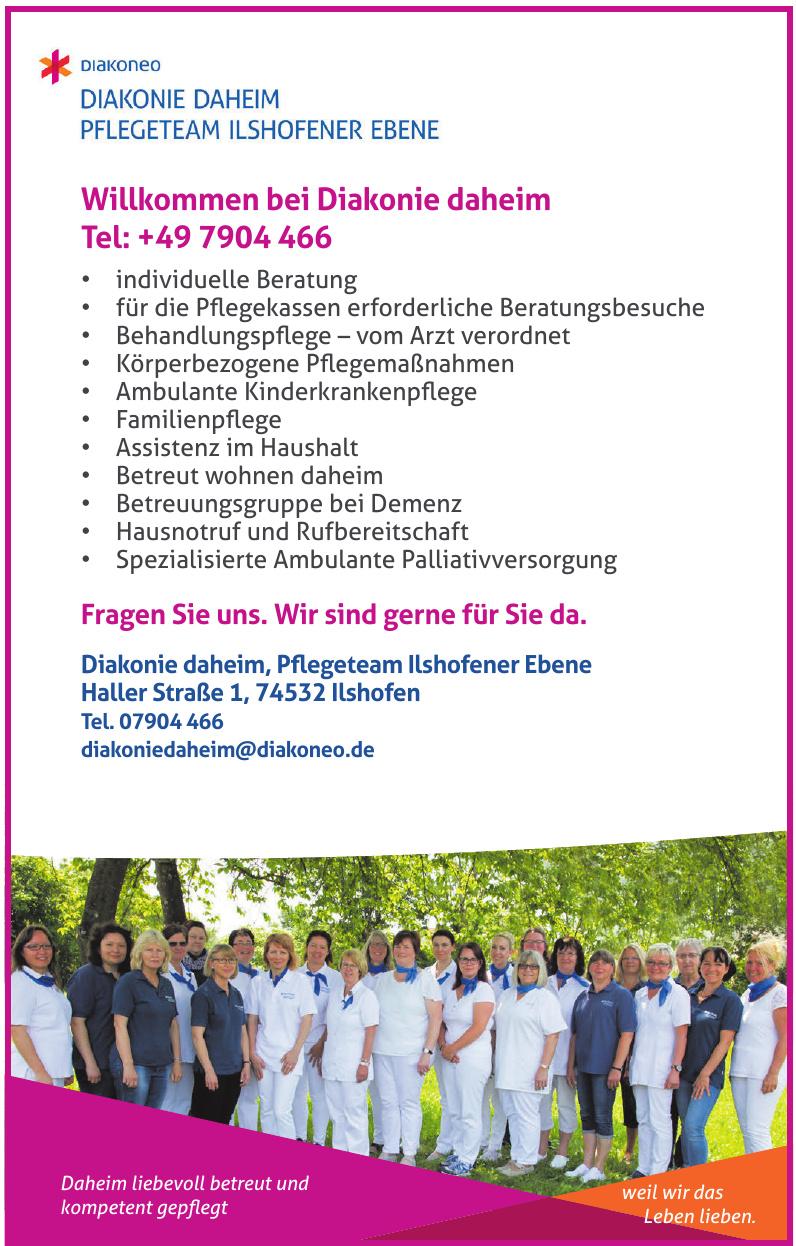Diakonie daheim Pflegeteam Ilshofener Ebene