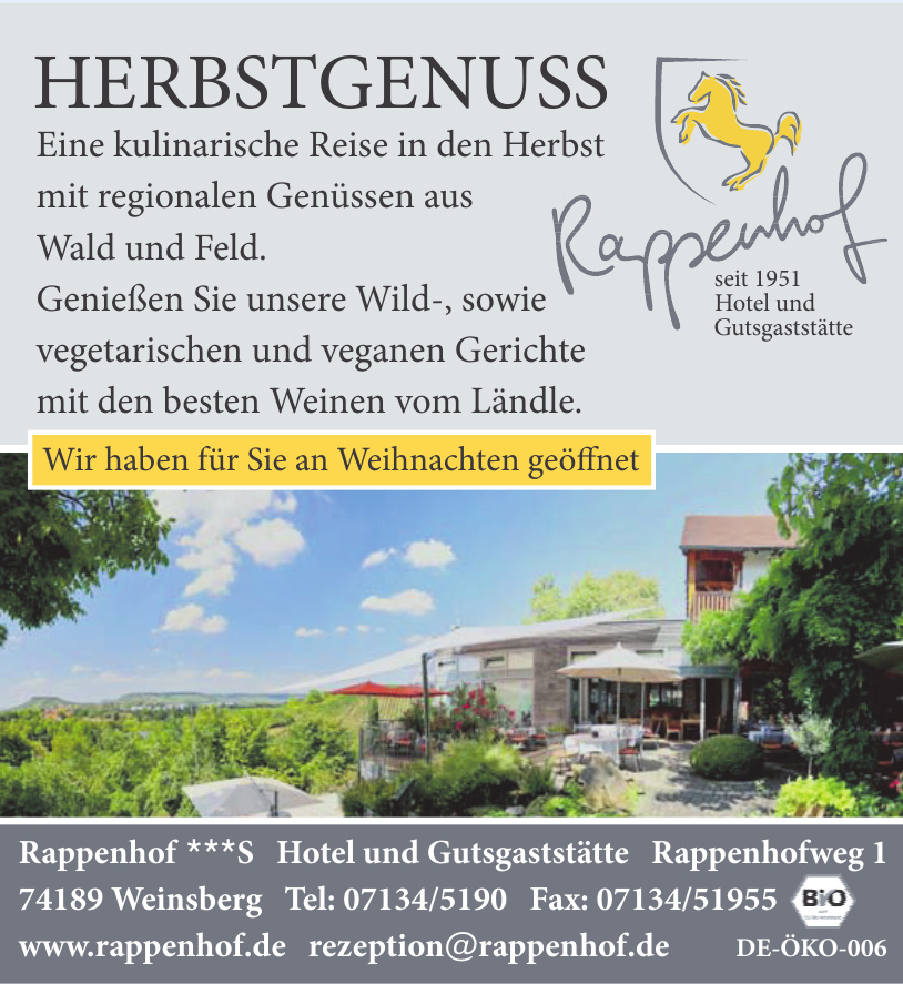 Rappenhof S Hotel und Gutsgaststätte