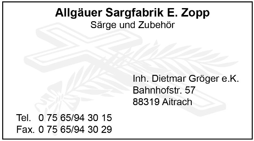 Allgäuer Sargfabrik E. Zopp