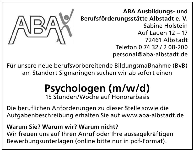 ABA Ausbildungs- und Berufsförderungsstätte Albstadt e. V.