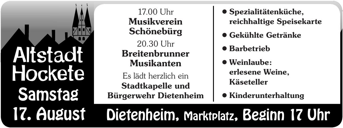 Altstadt Hockete