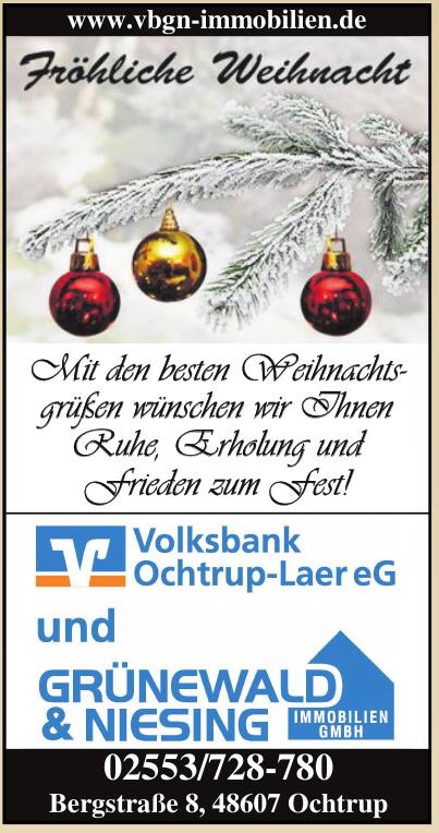 Volksbank Ochtrup eG und Grünewald und Niesing