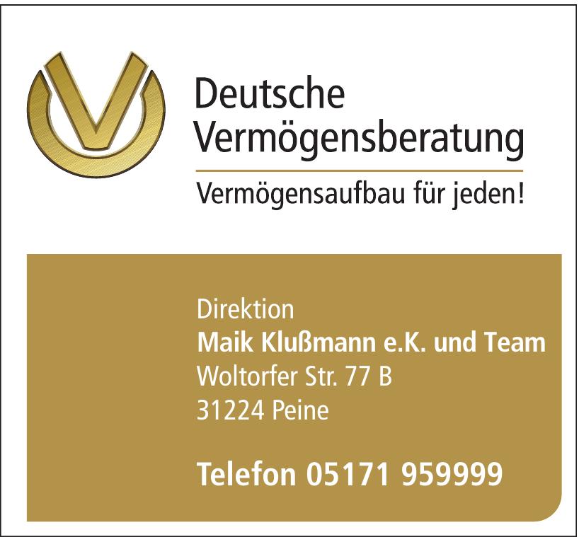 Deutsche Vermögensberatung - Maik Klußmann e.K. und Team