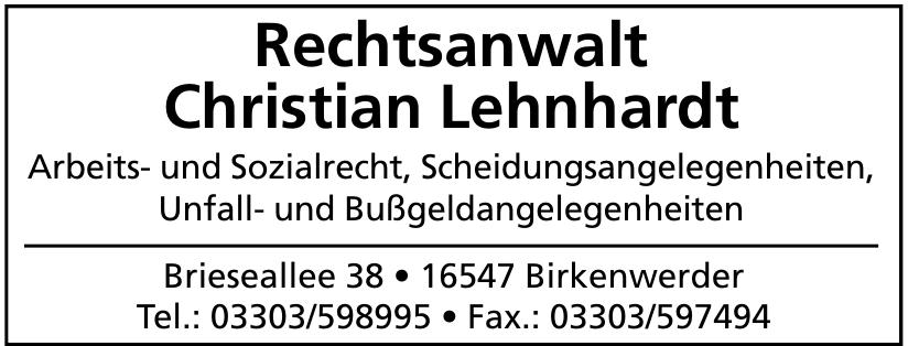 Rechtsanwalt Christian Lehnhardt