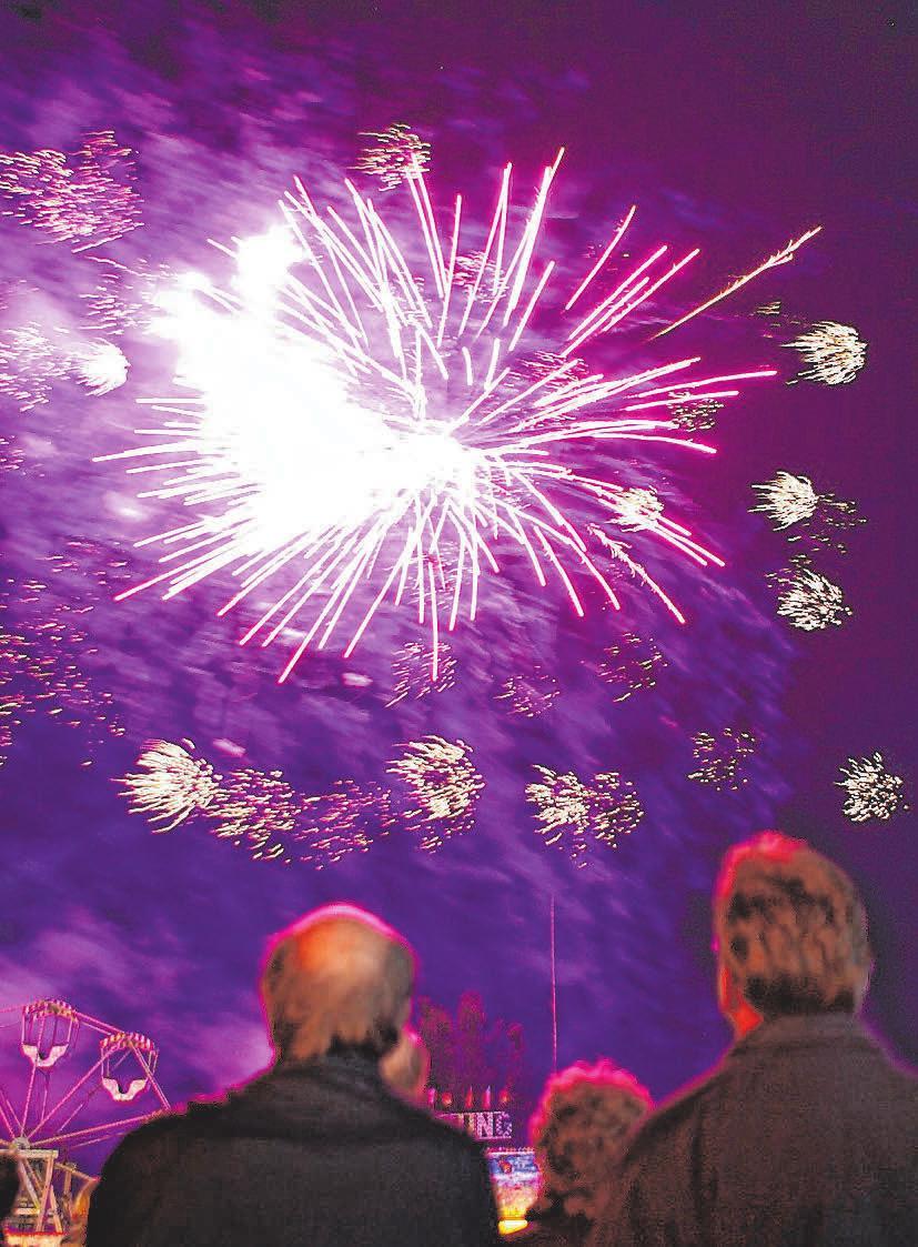 Das Feuerwerk zum Abschluss fällt auch dieses Jahr leider wieder aus. FOTO: THOMAS WARNACK