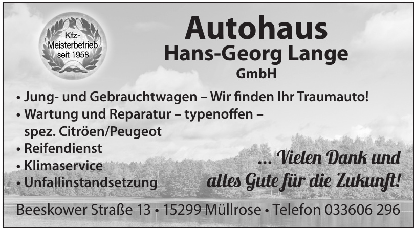 Autohaus Hans-Georg Lange GmbH