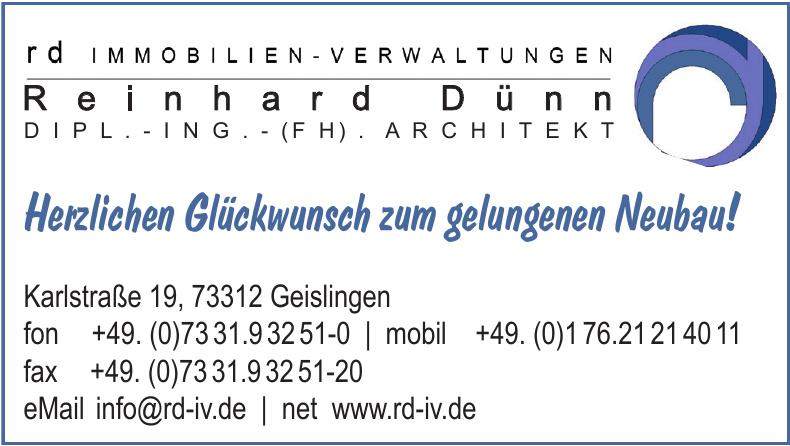 Reinhard Dünn - Dipl.-Ing. - (FH) - Architekt