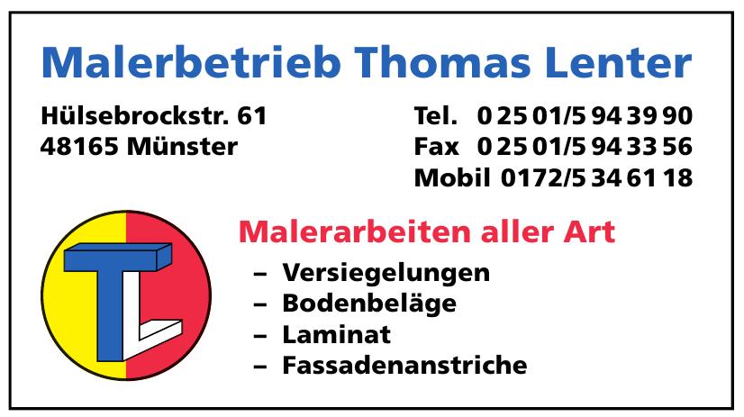 Malerbetrieb Thomas Lenter