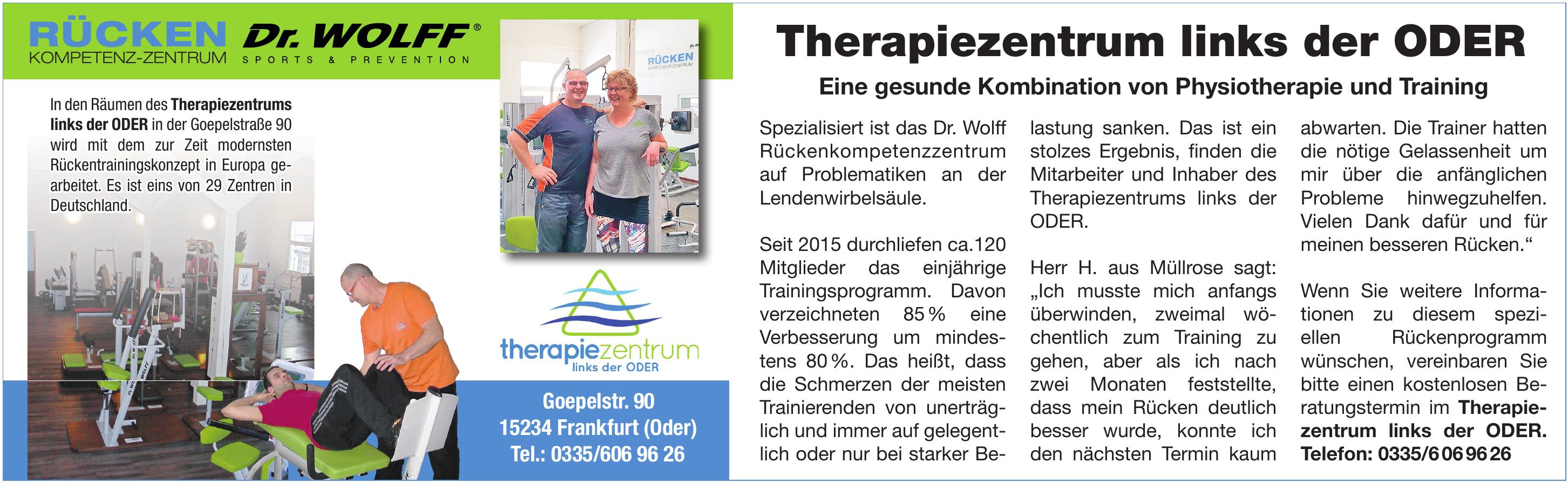 Therapiezentrum links der ODER