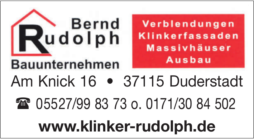 Bernd Rudolph Bauunternehmen