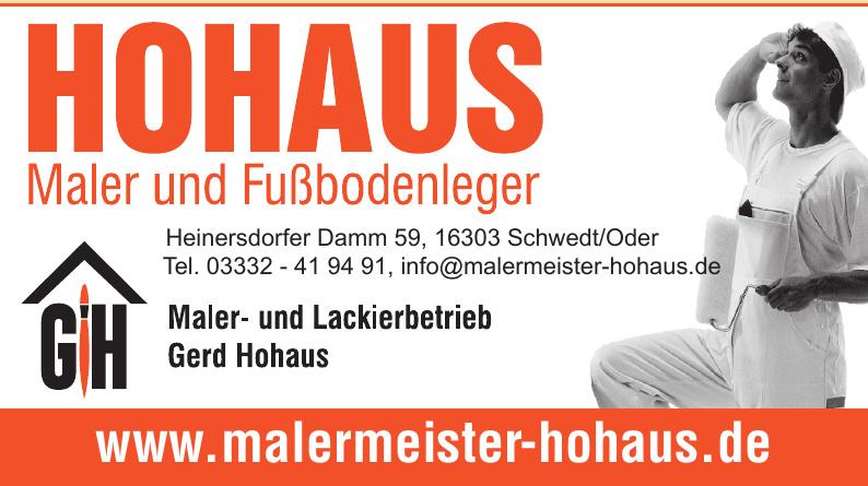 Maler- und Lackierbetrieb Gerd Hohaus GmbH & Co. KG