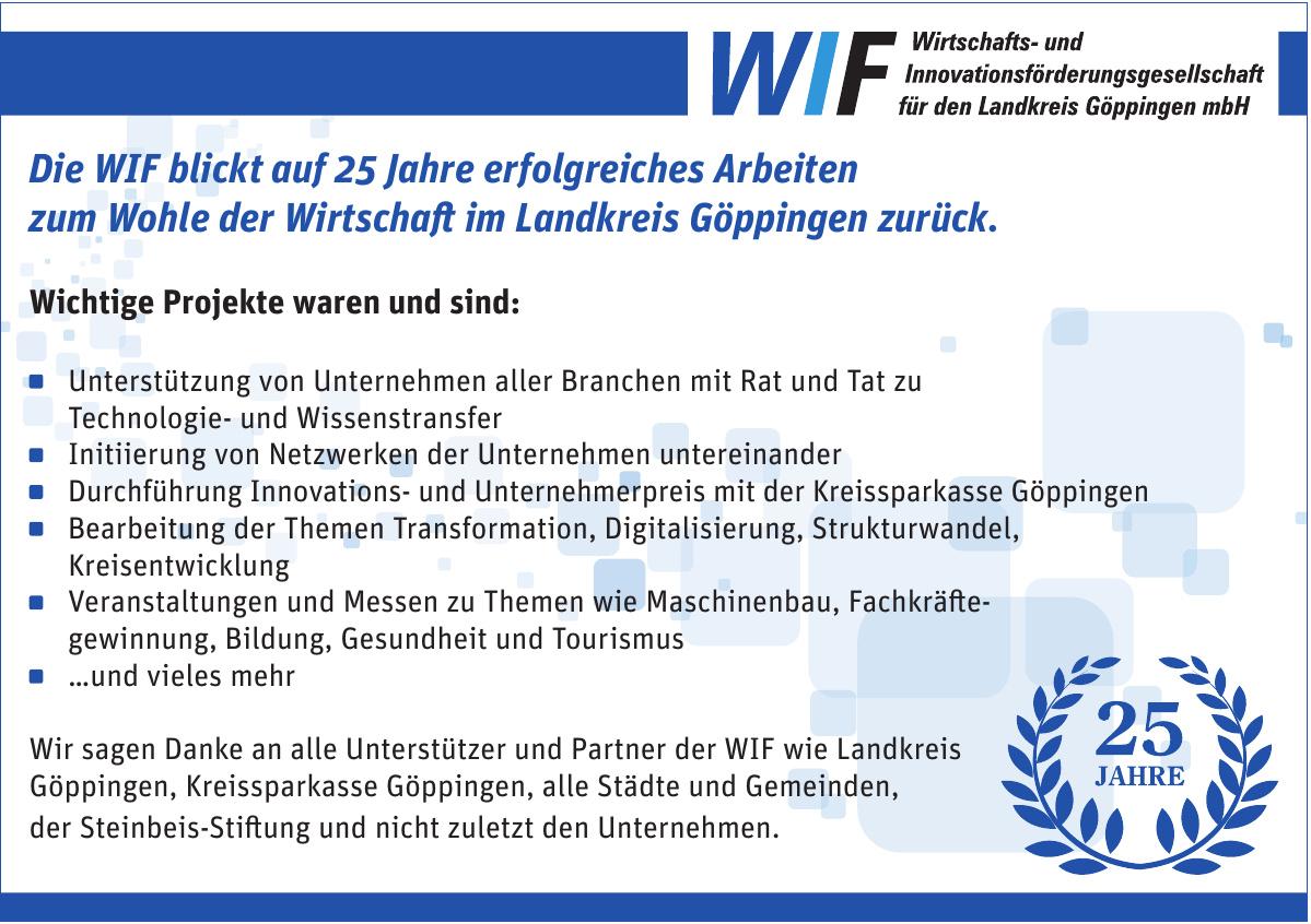 WIF-Wirtschafts- und Innovationsförderungsgesellschaft für den Landkreis Göppingen mbH